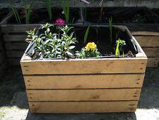 1 x PLANTER Vintage Rustic European Wooden Apple Crates,Wooden Garden Trough