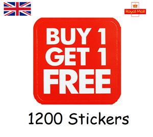 Buy One Get One Free Promotional Stickers 3cm - Retail BOGOF Price Offer Labels