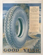 1927 AD(XA25)~GOODYEAR TIRE & RUBBER CO. ALL WEATHER BALLOON TIRES