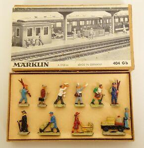 MARKLIN #404Gb HO SCALE DIE-CAST RAILROAD WORKMEN FIGURES-NEAR MINT IN OB!