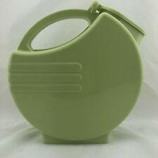 New listing Vintage 1950's Round Plastic Lidded Pitcher Art Deco Burroughs Chartruese Green