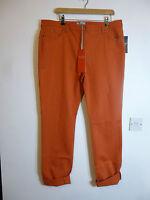 REDUCED BNWT Pure Collection brick coloured slim leg cotton jean size 18L 8L