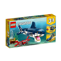 LEGO 31088 CREATOR 3in1 Deep Sea Creatures Make a Shark, Squid, Angler Fish Kit