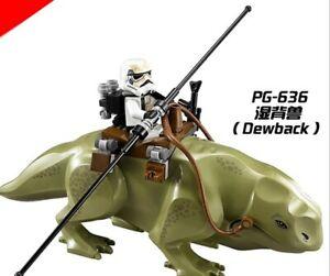 Passt LEGO Star Wars Minifiguren Dewback Kavallerie Sturmtruppler Bausteine