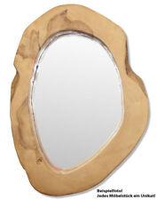 KMH® Teak Spiegel Wandspiegel Holz Dekospiegel Holzspiegel Kosmetikspiegel antik