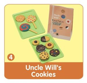 """RE-MENT """"Bread and Butter #4- Uncle Will's Cookies"""",1:6 Barbie food miniature"""