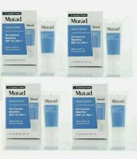 4 x Murad Acne Control Oil Control Mattifier SPF15 0.33oz/10ml  each Exp 4/2020