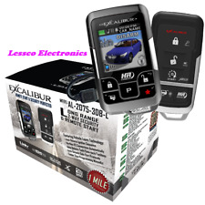 Omega AL-2075-3DB-L LCD 1 Mile Car Alarm Remote Start System +FREE Tech Sheet