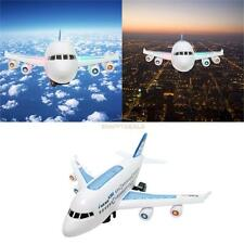 Model Aeroplane with LED Flashing Light Sounds Music Electric Toy Plane Air Bus