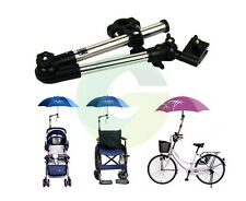 Bike Stroller Pram Wheelchair Bicycle Umbrella Bar Connector Swivel Stand Holder