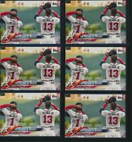 LOT OF 6 - 2018 Topps Update US43 Ozzie Albies & Ronald Acuna Jr. Rookie Card RC