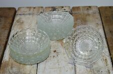 12 Vintage Pressed Glass Retro Sundae Dessert Ice Cream Bowls Tea Jacobean
