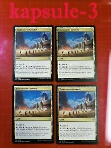 4x Tournament Grounds | Throne of Eldraine | MTG Magic The Gathering Cards