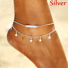 Hot Women Sequins Multilayer Star Summer Beach Leg Bracelet Anklet Foot Jewelry