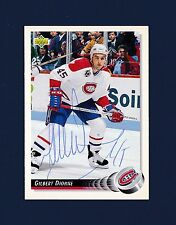 Gilbert Dionne signed Montreal Canadiens 1992-93 Upper Deck hockey card