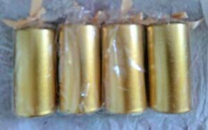 "4  Pack of 4 Medium   Gold  Metallic PILLAR Candles Metallic 4.5"" x 2.5"""