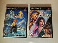 Final Fantasy X and X-2 (Sony PlayStation 2) PS2 games bundle lot tested