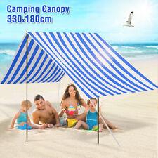 330x180cm Fabric Marine White Outdoor Garden Beach Canopy Shelter Tent Carport