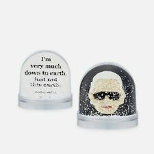 New Karl Lagerfeld Face Snow Globe with fun life quote, Handmade