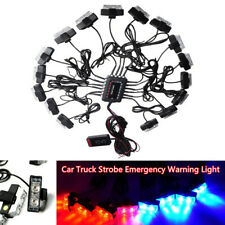 32LED 12V Car Truck Strobe Emergency Lights Bars Deck Dash Grille Work Lamp Kit