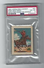 Hopalong Cassidy 1951 Post Wild West-Shooting From Saddle, #23, PSA VG /EX - 4