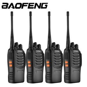 4 Pack Baofeng BF-888S UHF 400-470MHz Two-way Radio Walkie Talkie + Earphone UK