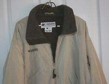 Columbia Basic Jacket Medium Tan Fleece Lined Lightweight Coat