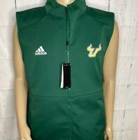 Adidas South Florida Bulls Jacket Vest USF Training Full Zip Windbreaker Men L