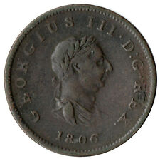 More details for 1806 half penny of george iii.  - nice collectable coin    #25