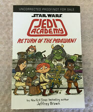 Star Wars Return of the Padawan uncorrected proof advance arc NEW signed/sketch