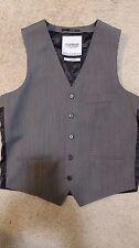 NeW TOPMAN Grey Suit JACKET Blazer VEST 38 Small WOOL Herringbone TopShop JAPAN