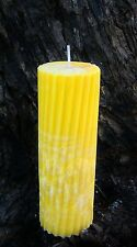 70hr FRESH JASMINE FLOWERS Triple Scented SPIRAL ARTISAN CANDLE FRESH AIR SCENT