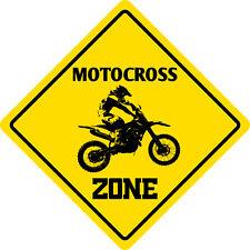 "*Aluminum* Motocross Zone Funny Metal Novelty Sign 12""x12"""