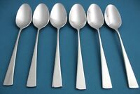 """6 Place Oval Soup Spoons Mikasa LUCIA Glossy 18/10 Stainless Vietnam NEW 7 1/2"""""""