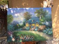 Original Oil Painting - Signed by C. Jaffey- Landscape - Vintage