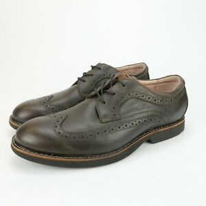 Abeo Niles Wingtip Brown Leather Orthotic Arch Support Shoes Men Sz 8.5 Neutral