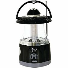 Northpoint 12-LED Lantern with 4-LED Flashlight and AM/FM Radio - Black