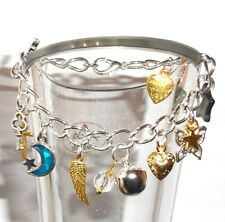 """*""""*""""*  Childs Silver Plated Mixed Charm Bracelet - Length 6 Inches  *""""*""""*"""