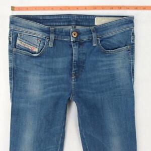 Ladies Womens Diesel SKINZEE 0826F Stretch Skinny Blue Jeans W28 L32 UK Size 8