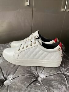 Kurt Geiger LUDO Leather Trainers Size 3 Rrp £139
