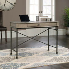 Forge Industrial Style Console Table Desk Metal Frame in Classic Dark Oak Effect