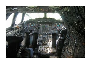 Concorde cockpit A4 reproduction picture poster with choice of frame