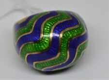 18K Enamel Dome Ring