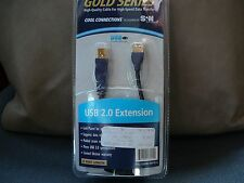 1ft USB Type A Male / Type A Female, Extension Cable, 2.0 Version 10U2-02101E
