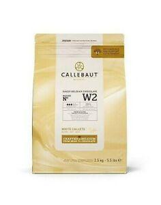 Callebaut White Chocolate 'W2' Callets - 1x2.5kg