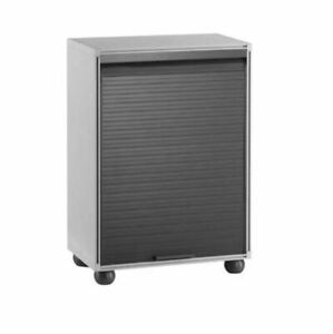 Garage & Office PVC Cabinet Cupboard Roller Shutter With Two Shelves