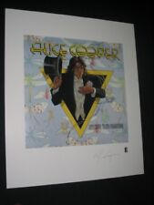 ALICE COOPER - PLATE SIGNED - LIMITED EDITION LITHOGRAPH