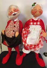 "Annalee Large Jumbo Size Santa (29"") & Mrs. Claus (29"") Dolls - Mint"
