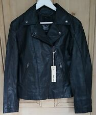 Diesel Medium Dada black leather jacket. BNWT. GENUINE. RRP: £420