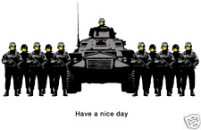 QUALITY BANKSY ART PHOTO PRINT (HAVE A NICE DAY)
